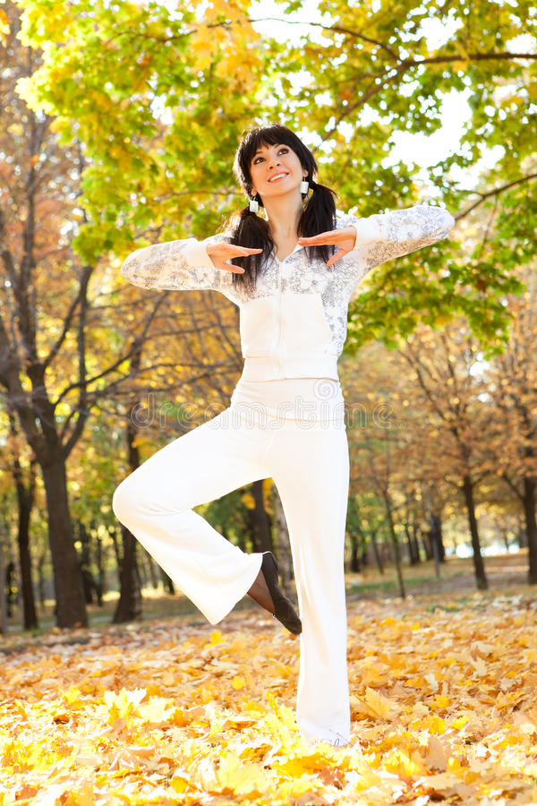 Download Pretty Woman Doing Yoga Exercises Stock Image - Image: 11654879