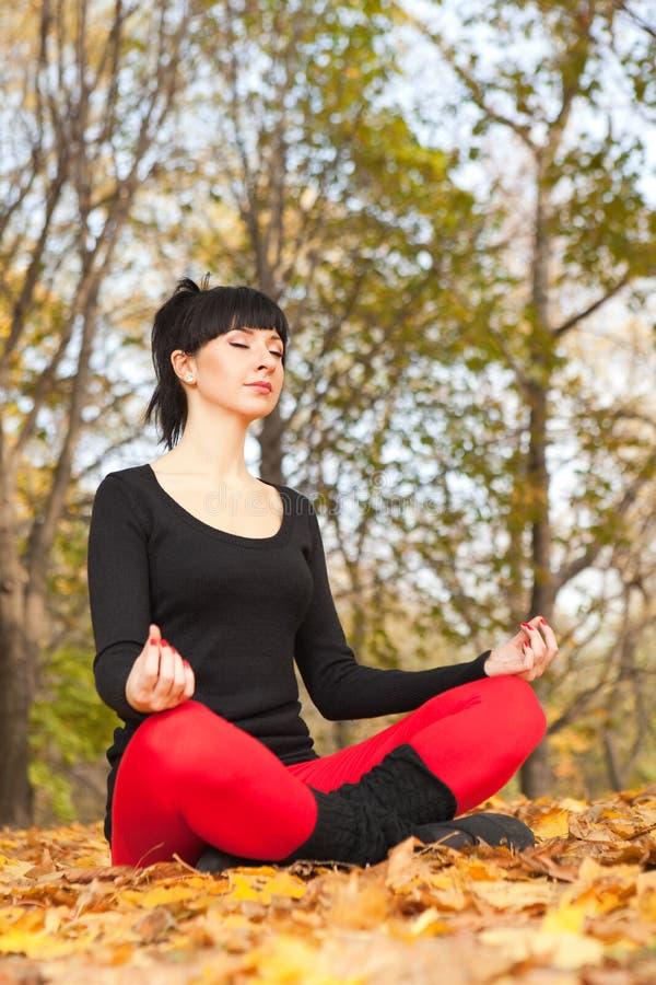 Download Pretty Woman Doing Yoga Exercises Stock Image - Image: 11699709