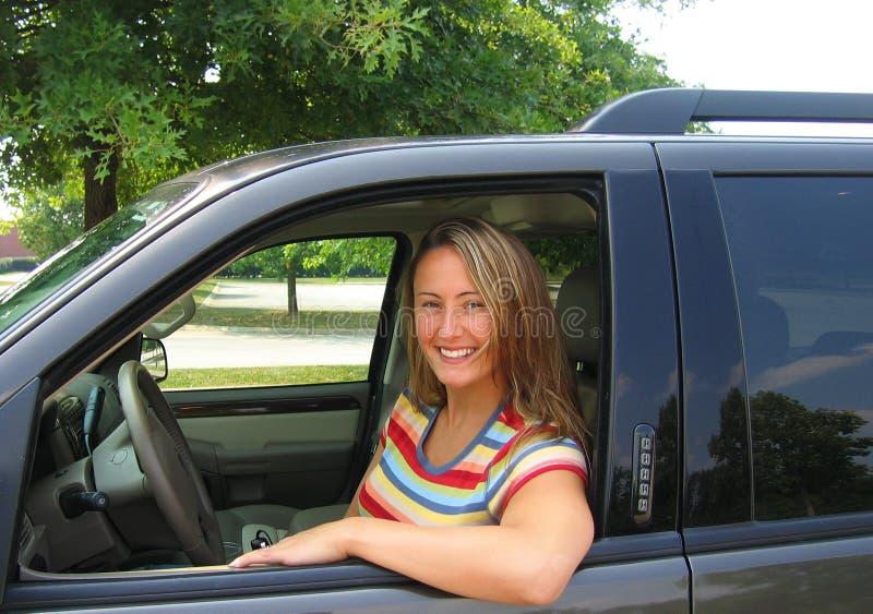 Pretty Woman Driver stock photo