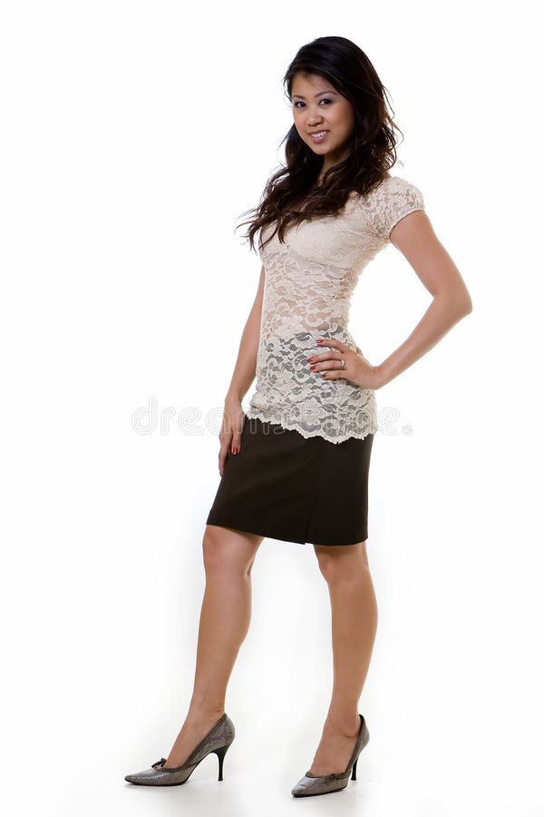Pretty woman fashion royalty free stock photos
