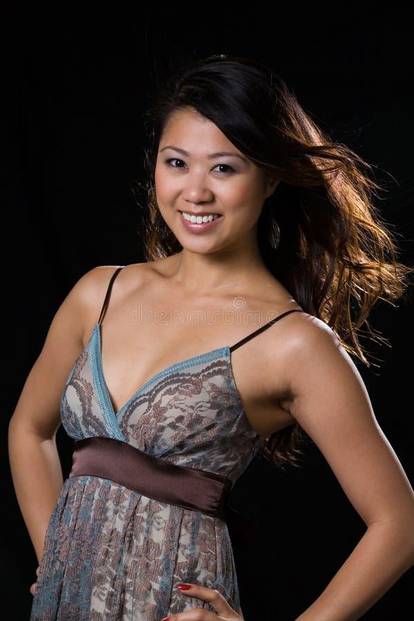 Pretty woman fashion stock image