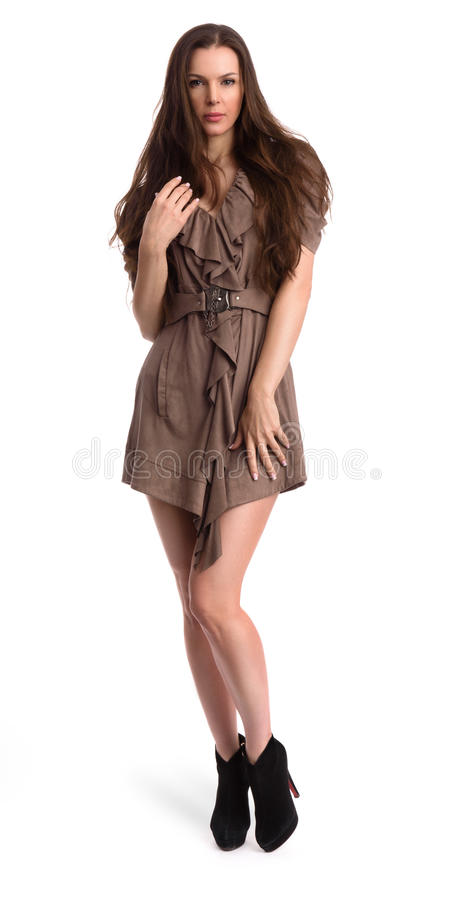 Pretty woman full length portrait royalty free stock photography