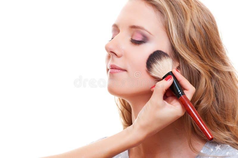 Pretty Woman Having Make Up Stock Photo