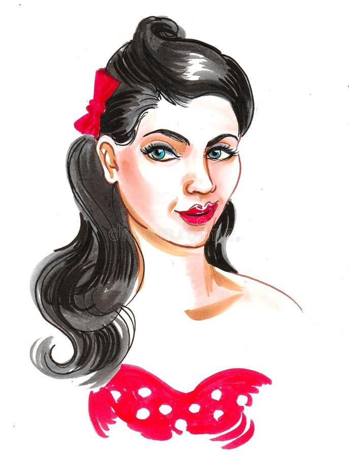 Pretty woman royalty free illustration