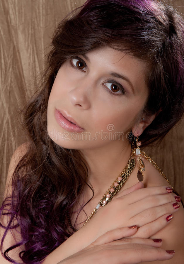 Download Pretty Woman In Jewelry And Makeup Stock Image - Image of woman, hair: 28771305