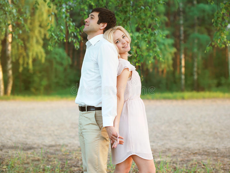 Pretty woman and man stock image