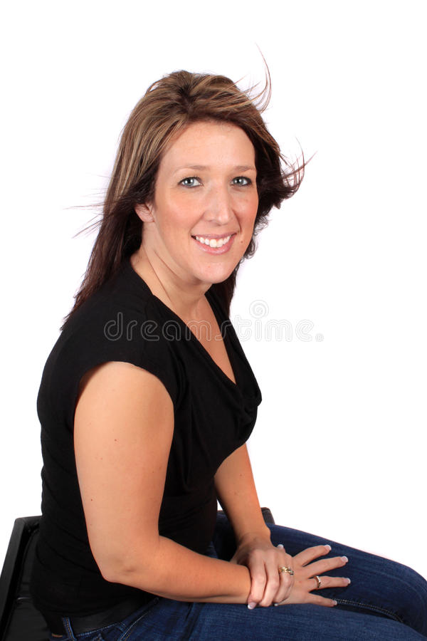 Pretty woman in mid thirties stock photography