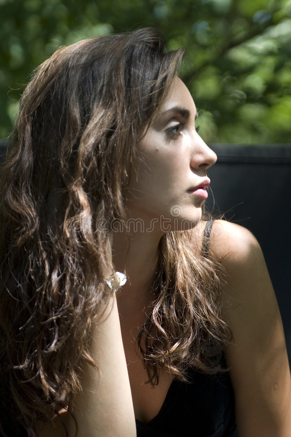 Pretty woman outdoor portrait royalty free stock images