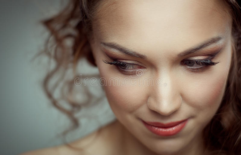 Pretty Woman Portrait Stock Image