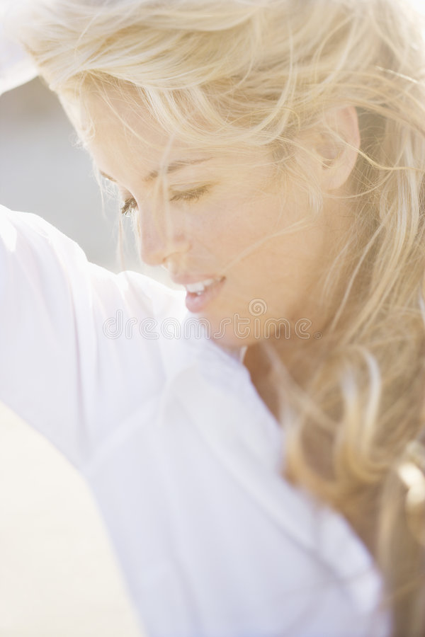 Pretty woman portrait. stock images