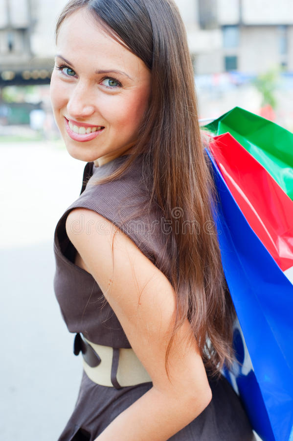 Pretty Woman Shopping Royalty Free Stock Images