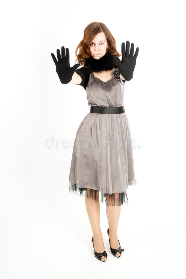 Download Pretty Woman Showing Stop Gesture Stock Photo - Image of adult, female: 21044392