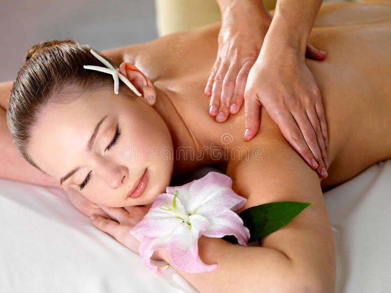 Download Pretty Woman On Spa Massage Stock Photo - Image: 23568388