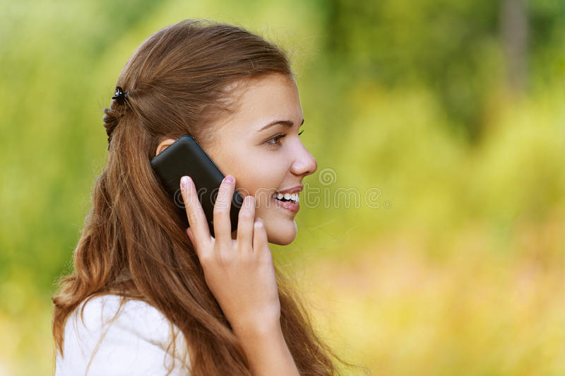Download Pretty Woman Talking On Cell Phone Stock Image - Image: 27061301