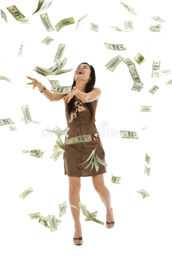 Download Pretty Woman Throwing Money Stock Image - Image: 15220213