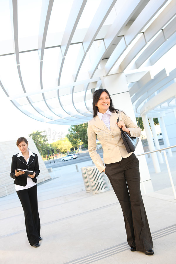 Download Pretty Women Walking To Office Building Stock Images - Image: 5985674
