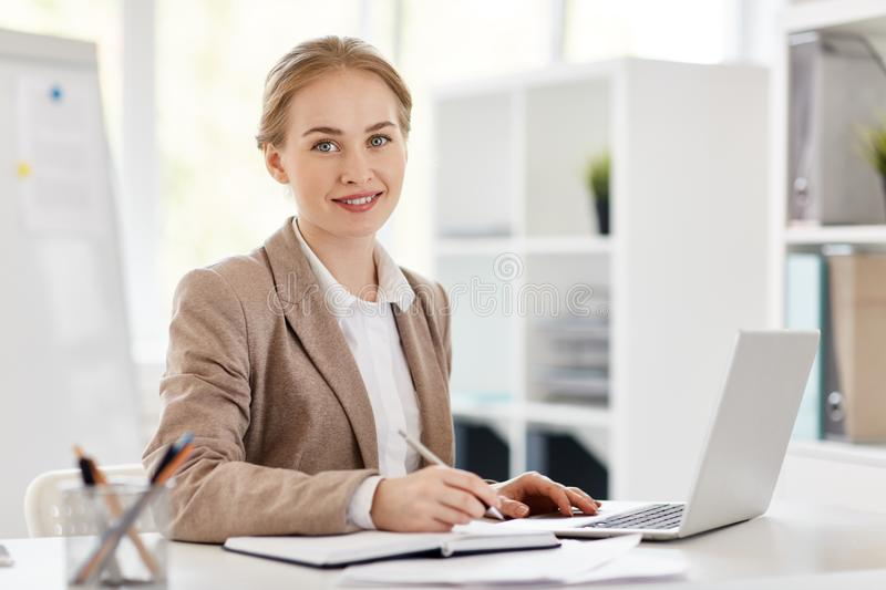 Accountant in office royalty free stock image