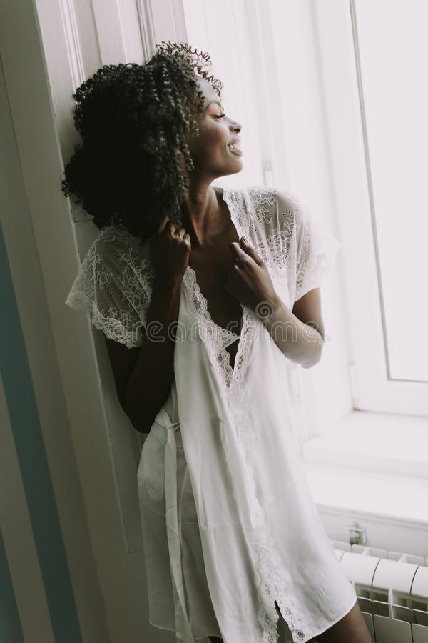 Pretty young african american woman royalty free stock photo