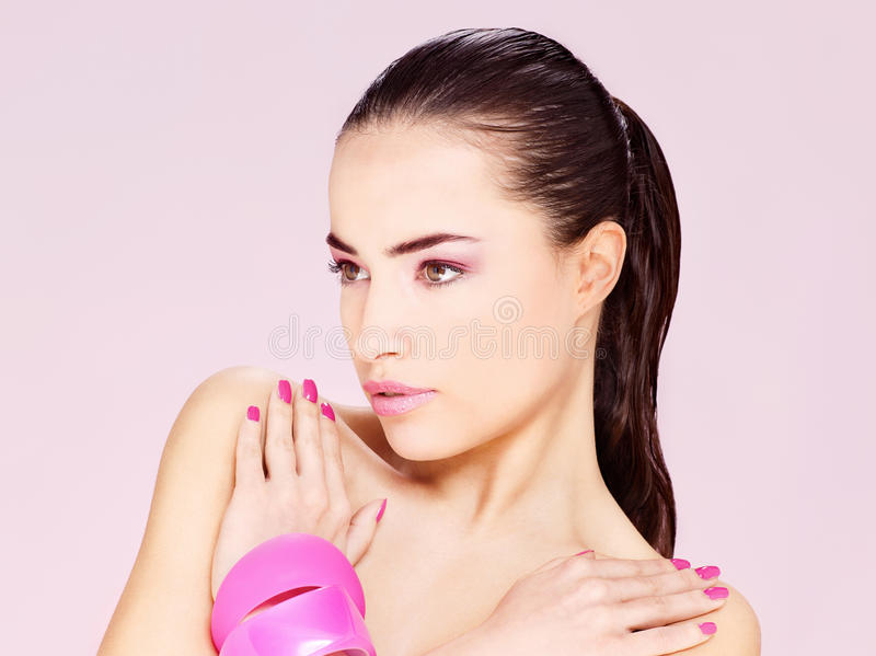 Download Pretty Young Brunette Woman Stock Image - Image: 28536445