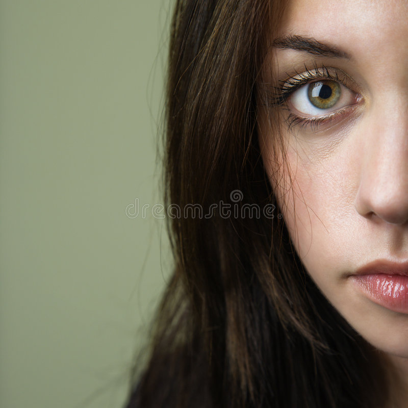 Pretty young brunette woman royalty free stock images