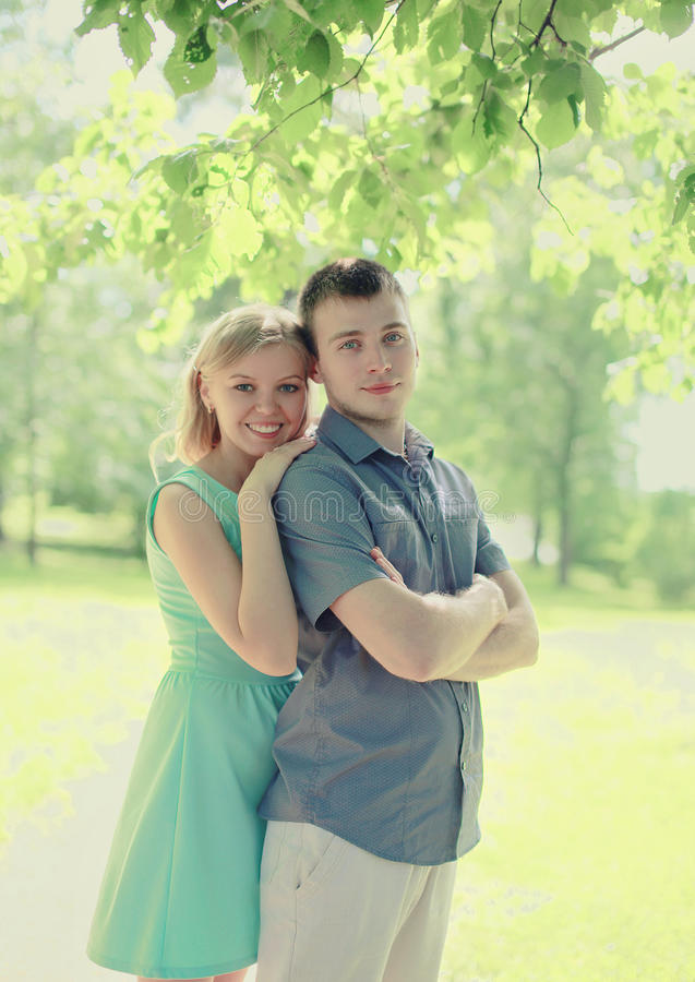 Pretty young couple. In love stock photos