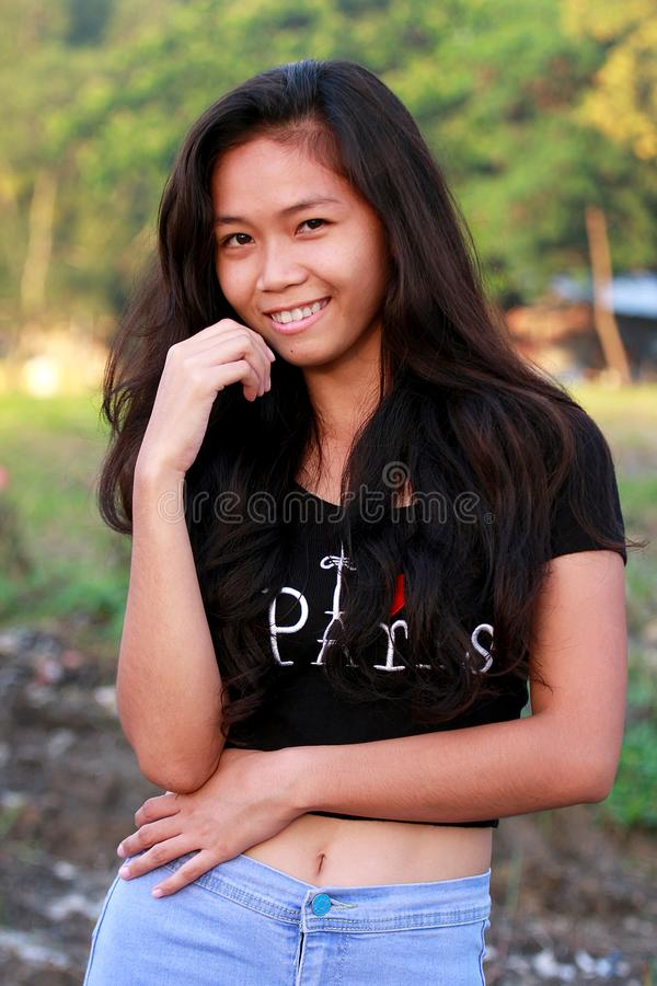 Free Pretty Young Filipino Environmental Portraiture Royalty Free Stock Photography - 103576127