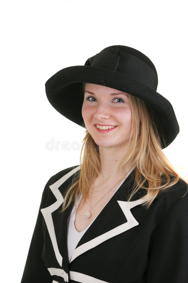 Pretty young lady in formal dr stock photos
