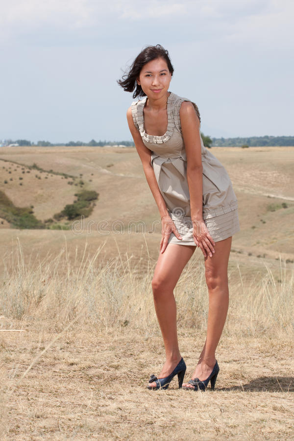 Download Pretty Young Lady On A Meadow Hills Stock Photo - Image: 23735272