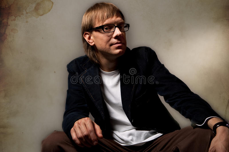 Pretty Young Man In Jacket Royalty Free Stock Photo