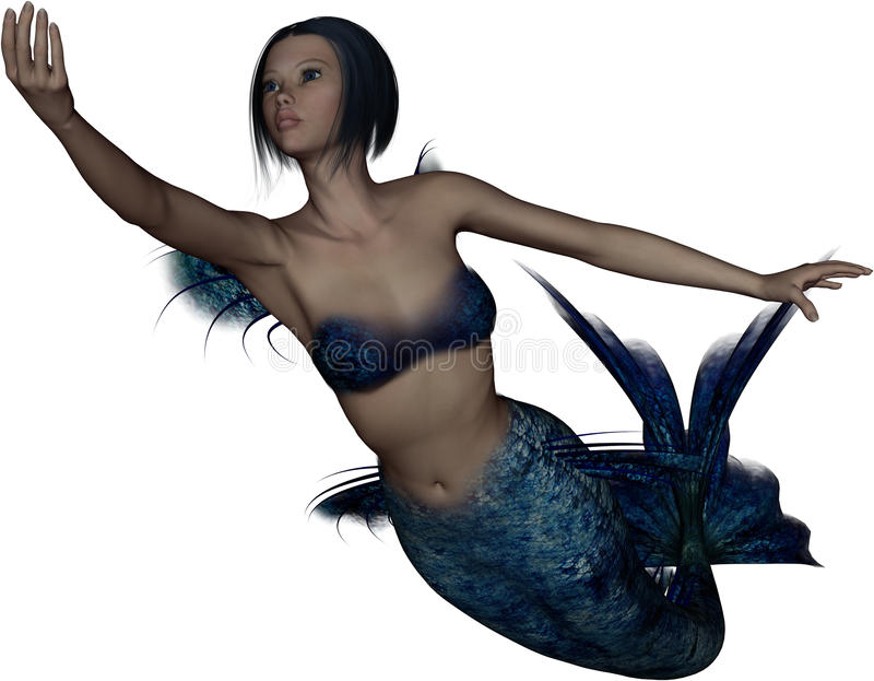 Download Pretty young mermaid stock illustration. Image of graphic - 16575039