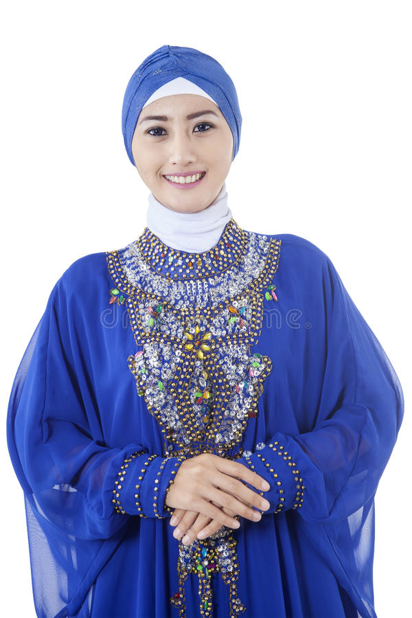 Pretty young muslim woman stock images