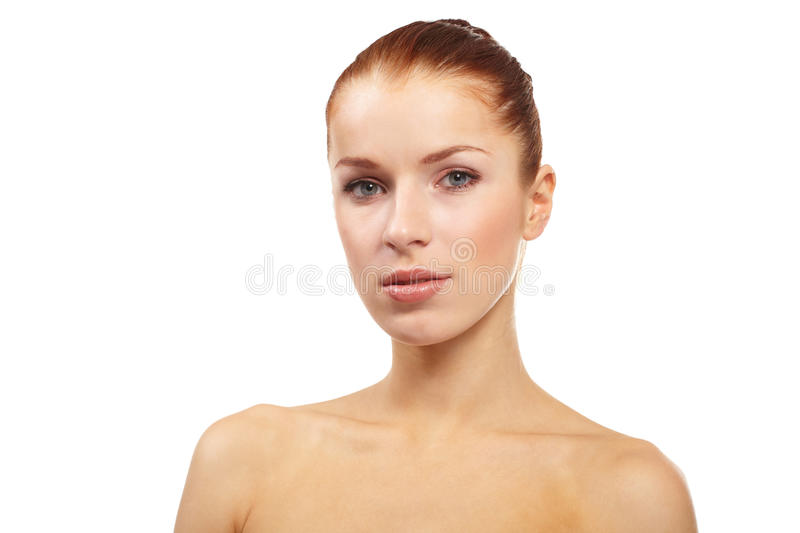 Pretty young naked woman stock image