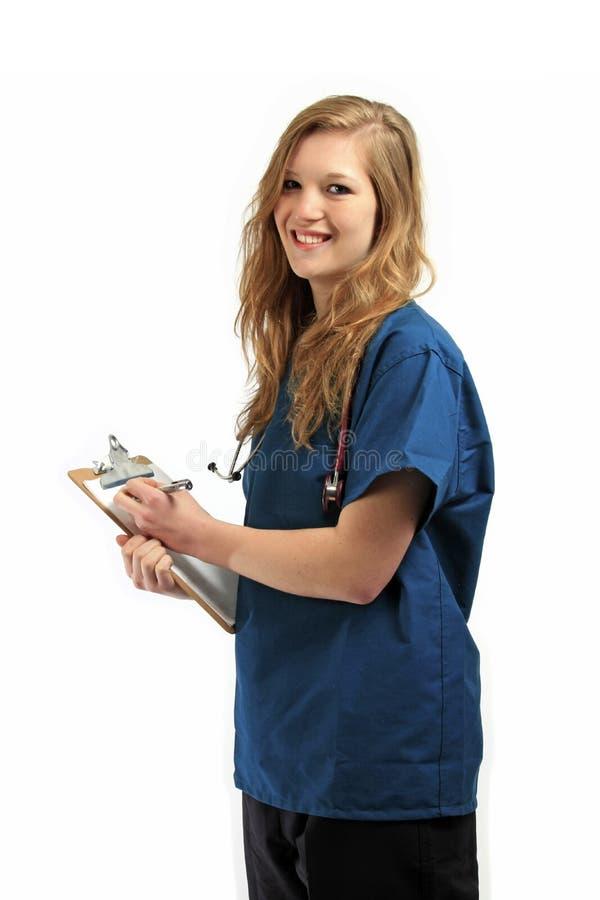 Pretty, young nurse stock photo