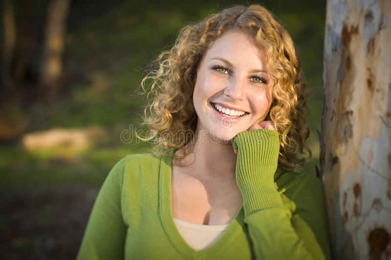 Pretty Young Smiling Woman Portrait royalty free stock image
