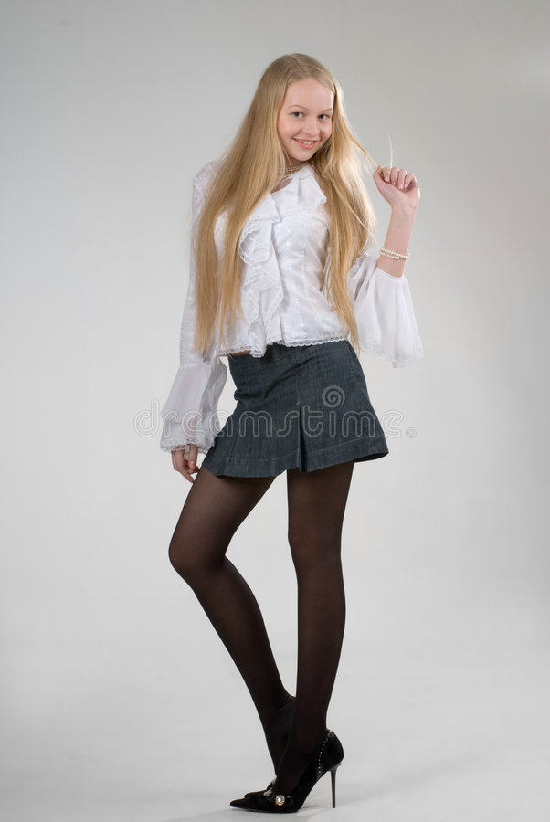 Pretty young stylish girl royalty free stock photography