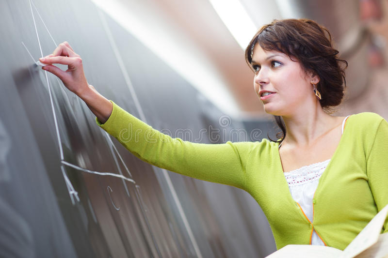 Pretty young teacher stock image