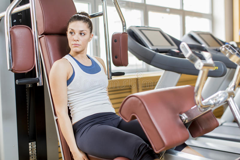 Download Young woman in the gym stock image. Image of active, adult - 30104739