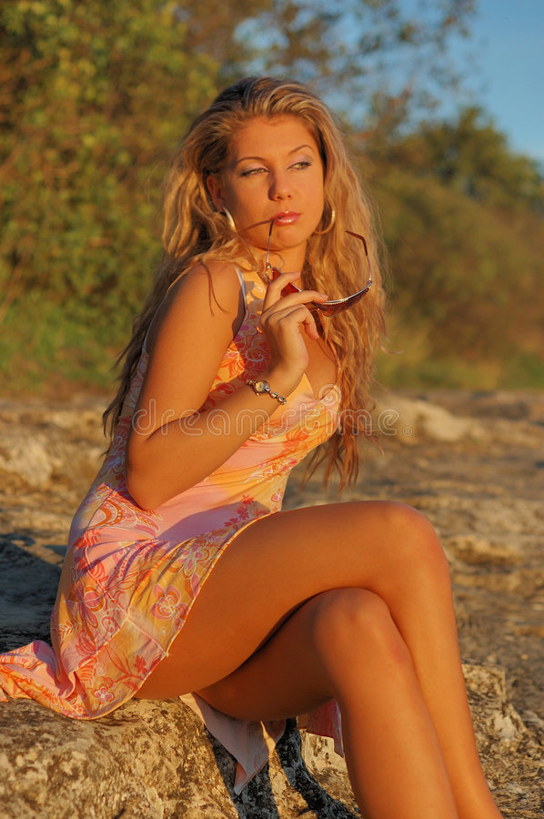 Download Pretty young woman stock image. Image of dressed, attractive - 3240591