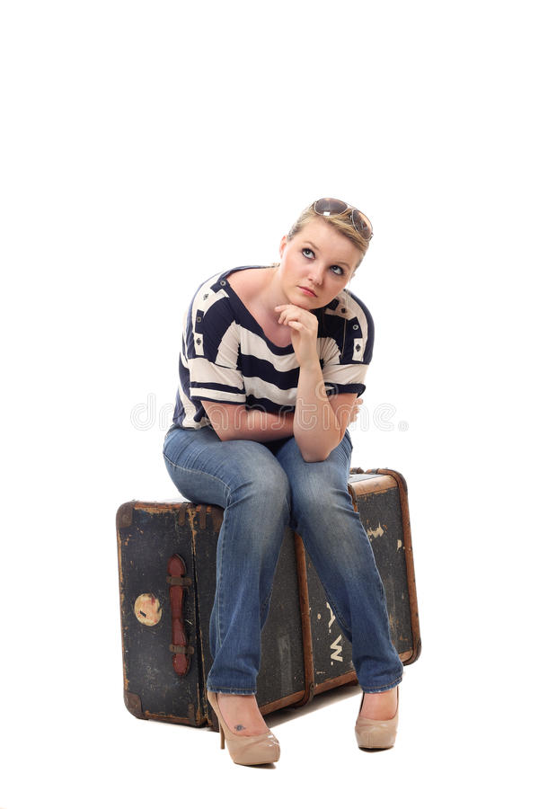 Download Pretty Young Woman Apprehensive About Her Travels Stock Photography - Image: 25497482