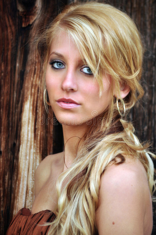 Pretty young woman with long blonde hair