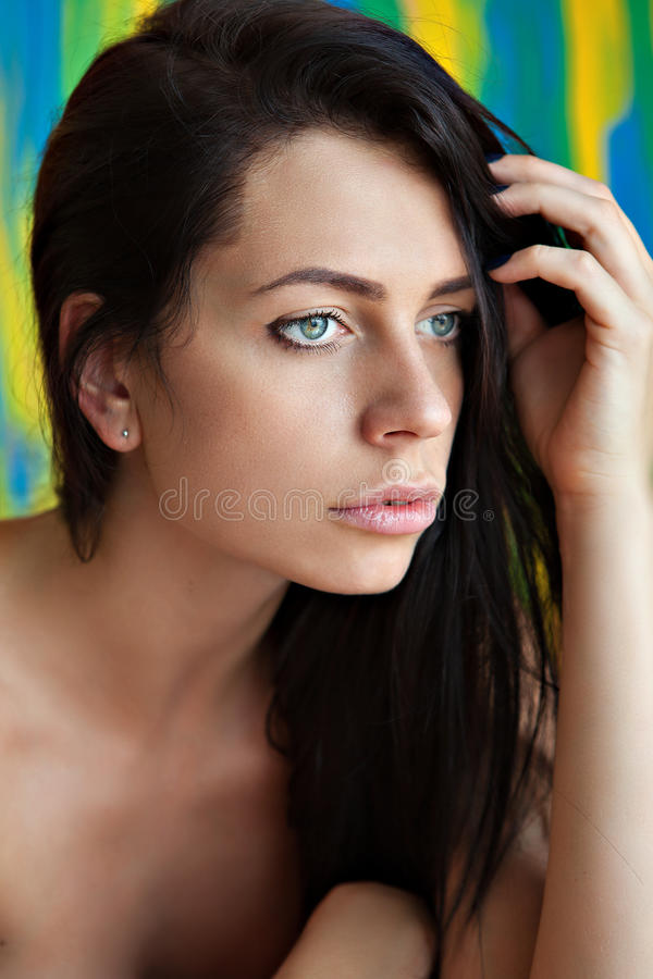 Pretty young woman portrait royalty free stock image