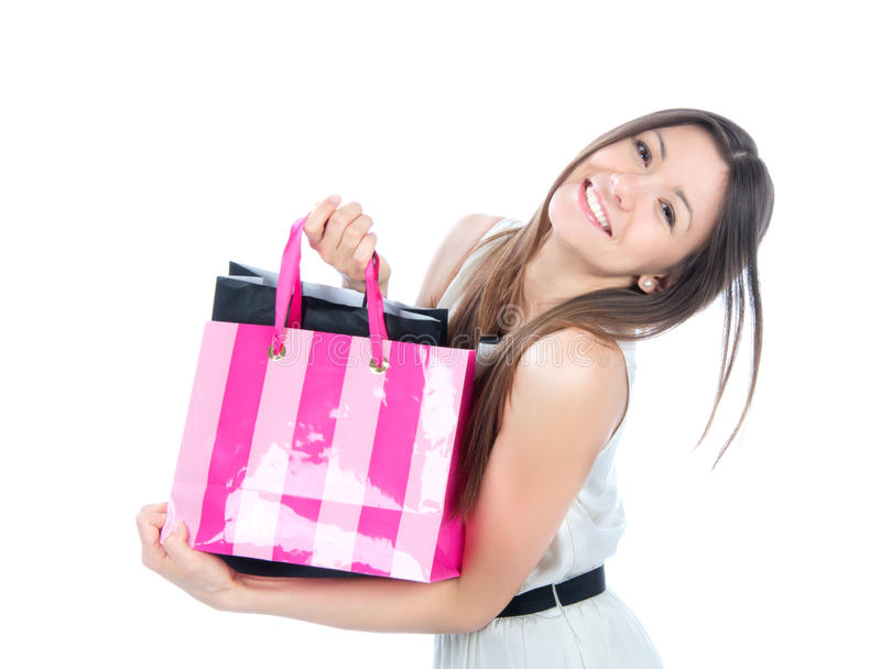 Download Pretty Young Woman With Shopping Bags Stock Photo - Image: 23906326