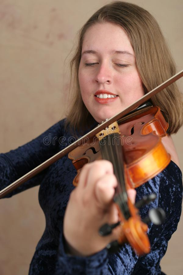 Prettyl Violinist stock photography