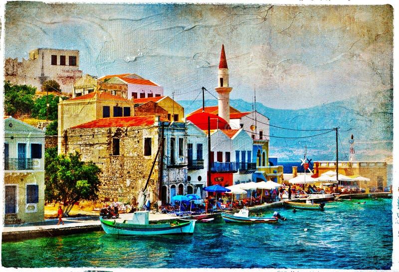 prety greece öar royaltyfri fotografi