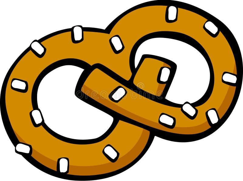 pretzel αλμυρό πρόχειρο φαγητό ελεύθερη απεικόνιση δικαιώματος
