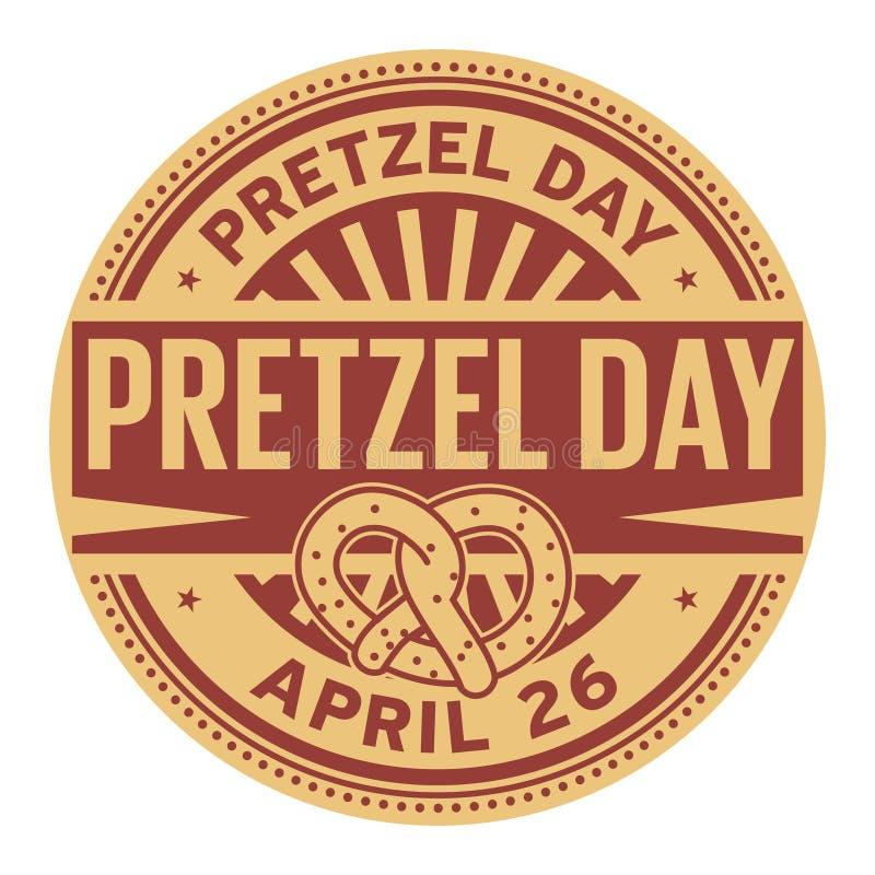 Pretzel γραμματόσημο ημέρας ελεύθερη απεικόνιση δικαιώματος