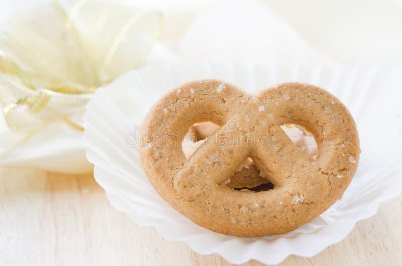 pretzel μπισκότο ζάχαρης στοκ φωτογραφία
