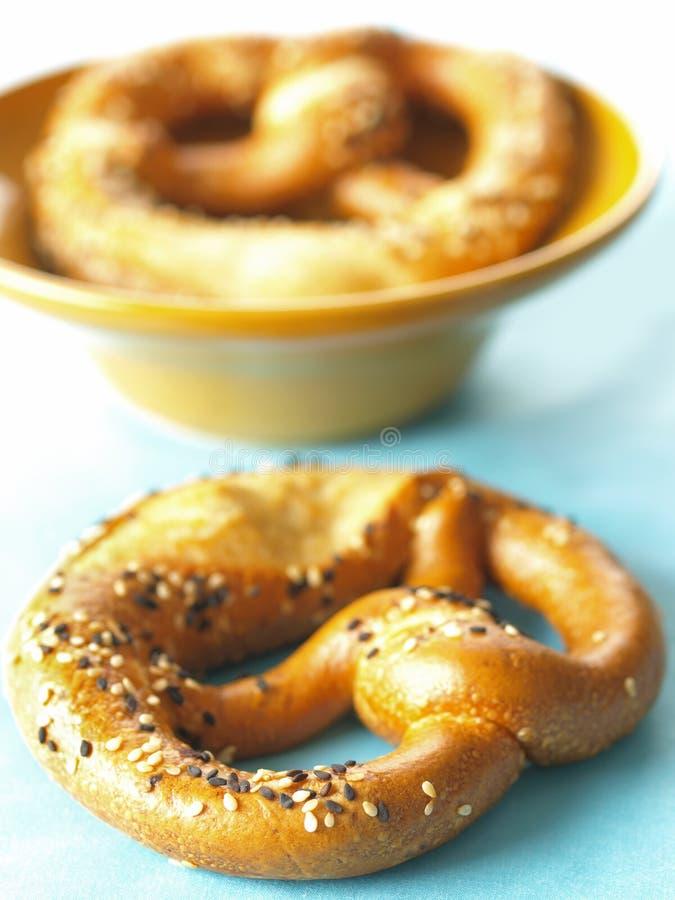 Download Pretzel stock image. Image of snack, cooked, seeds, pretzel - 16005061