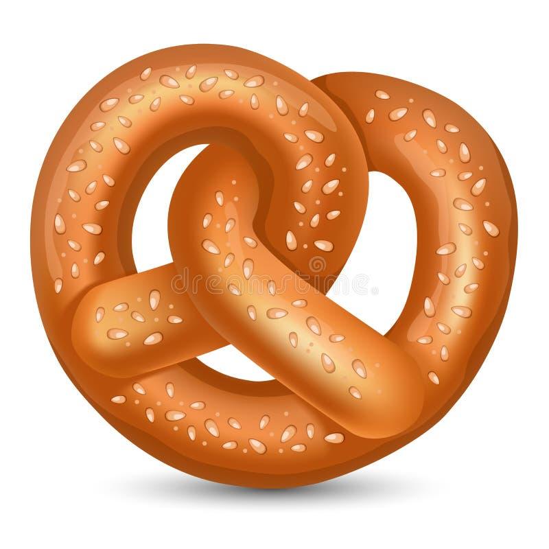 pretzel διανυσματική απεικόνιση
