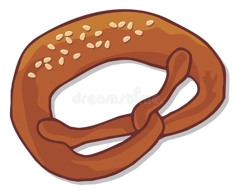 Pretzel stock illustratie
